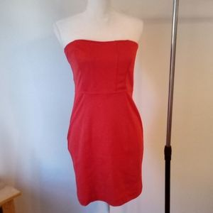 XXI by Forever 21 red sz Lg Body con halter dress